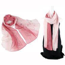 Echarpe en soie design à deux tonalités en couleur avec des paillettes