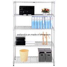 Venta al por mayor estante diario del almacenamiento del alambre de metal plateado Chrome para el hogar