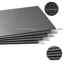 Las ventas calientes fabrican la hoja / la placa completas de la tela cruzada de la fibra de carbono pura de encargo 3K para el helicóptero