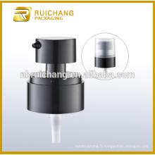 Pompe à lotion en plastique / pompe à loches crème de 18 mm / distributeur de pompe à lotion avec petite surcapacité