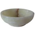 Moderne runde Form weiße Jade Waschbecken für Eitelkeit