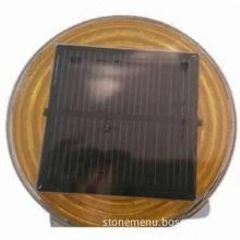 Solar warning light, uses high-performance solar panels