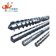 Single extruder screw and barrel for plastic recycling machine