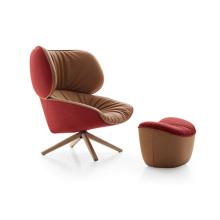 Ткань диван шезлонг стулья с металлическими ножками