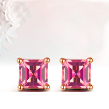 18K Gold Earring and Ruby Stud Earring