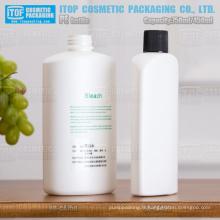 750ml & 450ml bouteille magnifique ovale blanc recyclable en plastique hdpe personnelle