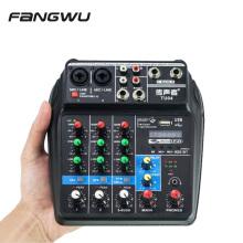 2020 Newest Mini 4 Channel USB Audio Mixer Console