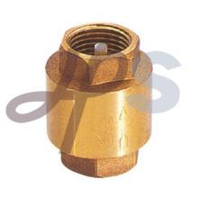 Válvula de retenção de mola de latão com núcleo de latão