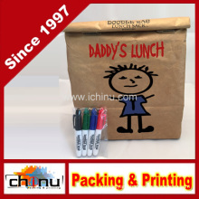 Reusable, Insulated Tyvek Lunch Bag - Includes 4 Mini Permanent Markers - Great for Office Gifts (210220)