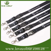 Black lanyards badge holder with custom printing