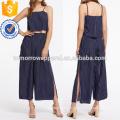 Vertical Striped Top With Split Wide Leg Pants Manufacture Wholesale Fashion Women Apparel (TA4024SS)