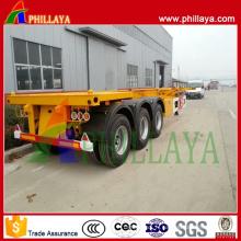 Semi remorque de camion de récipient à plat de l'OIN 3-axes de CCC 40FT