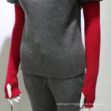 Mongolie intérieure tricotée coude longueur sans doigts 100% cachemire gants d'hiver
