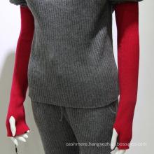 Inner mongolia knitted elbow length fingerless 100% cashmere Winter gloves