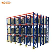 sistema de almacenamiento en estanterías en paletas de acero