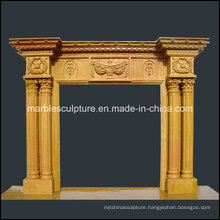 High Quality European Style Antique Marble Fireplace (SY-MF127)