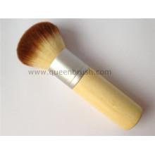 Mango de bambú Diseño excelente Kabuki cepillo cosmético del polvo