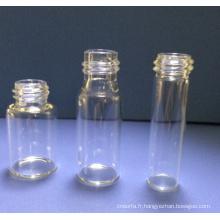 3ml en verre transparent Mini tubulaire fioles pour l'emballage cosmétique