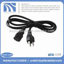Universal 3 Prong AC 200V US Cable de Cable de Alimentación para PC Portátil