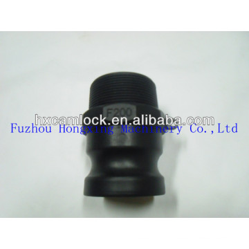 PP quick coupler for hydraulic type F male coupling