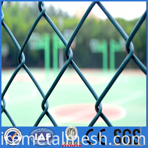 the stadium pvc coated chain link fence