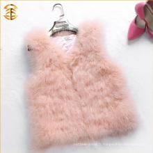 Nouveau arrivé en 2016 Mise à jour de la veste en fourrure en peau de couleur rose rose