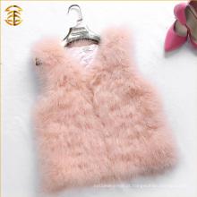 New Arrived 2016 Atualizando Baby Pink Color Fur Vest Short Style Fur Gilet