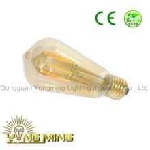St64 cubierta de oro bombilla LED, 8W E27 bombilla LED