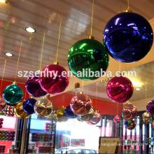 De alta calidad de plástico multicolor bola grande de Navidad