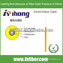 Câble fibre optique intérieur de 0,6 mm