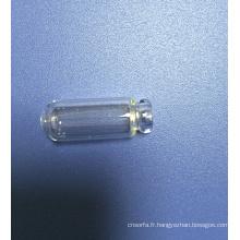 Mini fiole en verre clair tubulaire pour le parfum échantillons d'emballage