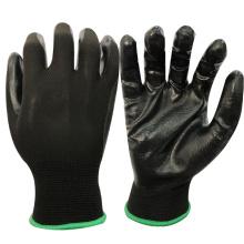 NMSAFETY pas cher prix pour anti eau légère et punture travail utiliser 13 jauge gants industriels en nitrile