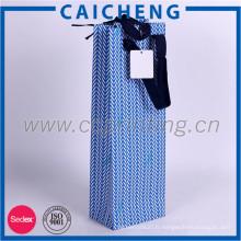 Sacs d'emballage de cadeau personnalisé de papier de différentes couleurs avec hadle