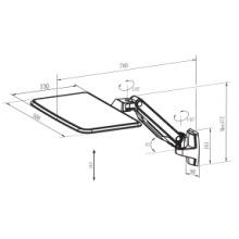 Soporte de pared para portátil con ángulo ajustable (WLB771)
