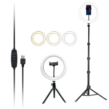phone live broadcast 3000-6500k professional photography 10 inch led selfie ring light with tripod stand