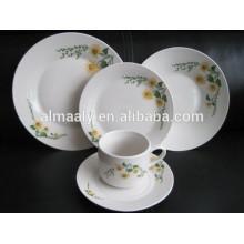20 pcs round porcelain dinner set