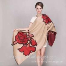 Kundenspezifische Herstellung TS-0001 6 Rosen Schal Mode Viskose Schal Schal und Schals Lieferant Alibaba China