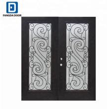 Fangda hierro forjado parrilla entrada hierro puerta diseños