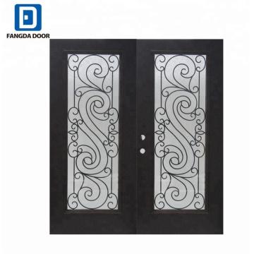 Fangda fer forgé grille d'entrée de fer conceptions de porte