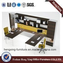 Modern 4 Seats Office Partition Workstation with Metal Legs (HX-6D027)