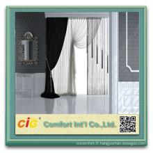 Tissu de rideau de douche en polyester pour fenêtre