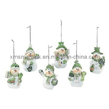 Presentes da decoração pendurada do boneco de neve, ornamento do prendedor do Natal