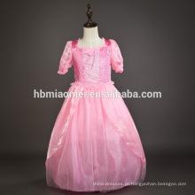 Aurora vestido de princesa em vestido de menina cor rosa princesa cosplay vestido de princesa bonita