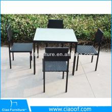 Preço barato 4 peça de mobília do pátio exterior