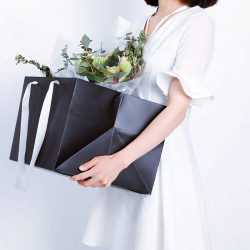 Durable Single Color Flower Packaging Paper Bag