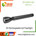 Factory Wholesale 3*D Ni-cd Battery Heavy Duty Long Distance Range Aluminum 10w CREE xml led Bright light Torch Rechargeable