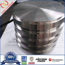Dia98.5 × 20.1 मिमी ASTM B348 GR23 टाइटेनियम (TI-6AL-4V-एली) लक्ष्य CAD CAM Mmachining के लिए
