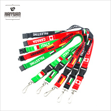 Full Color Heat Transfer Printing Nation Flag Lanyard No Minimum