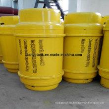 Qualitativ hochwertige flüssiges Chlor-Gasflasche mit Ventilen