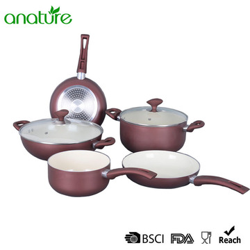 Factory best selling for Pressed Aluminum Cookware White Ceramic Pressed Glass Heat Resistant Cookware Set supply to Finland Exporter